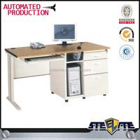 High quality manufacturersSteel Leg Compact Office Computer Desk w Pedestal as Storage