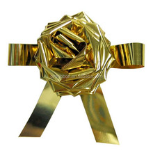 Golden Fancy Ribbon Pull Bow With Wings and Tails for Christmas Gift Packing