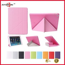 2015 HOT&Factory Price Wake and sleep function TPU and PU leather back cover back case cover for iPad air