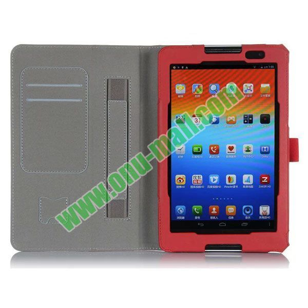Free Shipping Factory Price PU Leather Case for Lenovo A5500 with Card Slots and Armband