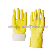 yellow cleaning household rubber gloves