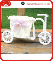 Factory directly cheap wholesale bike stand flower basket for home decoration
