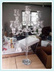9 arms crystal candelabra , tall wedding candelabra centerpiece
