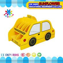 Taxi di legno a forma di bambini libreria della scuola mobili scuola materna mobili(per xyh12141- 5)
