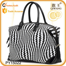 high quality woven genuine leather large tote bag for lady European style