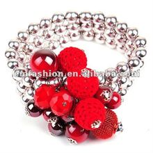 2012 winter fashion costum CCB elastic bracelet with beads