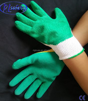 GREEN PALM polyester Rubber Latex Coatted Glove for garden use