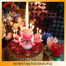 2014 hot-selling flower lotus music magic walmart candles