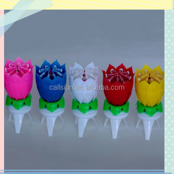 Birthday party supplies rotating musical birthday candle wholesale.jpg