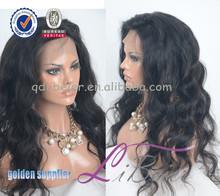 LiBeier Hair Hot! 2014 New arrival body wave aaaaa human hair brazilian glueless silk top full lace wig