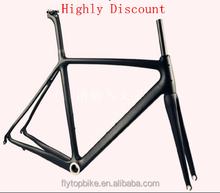 Flytop Highly Discount! Super Light High quality carbon road bike frame