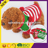 2015 hot selling fashion color red green striped small wool ball cute dog sweater