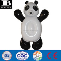 factory kids giant inflatable panda ride on toys plastic ride on inflatable animals pool toys animals