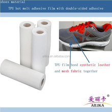 shoe upper material type hot melt film will bondind leather together on shoe upper leather glue