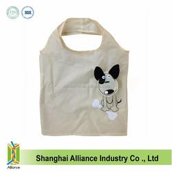 Fashional cheap foldable dog animal shaped polyester nylon shopping bag