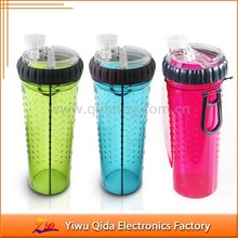 FDA plastic function as travel dog water bottle and dog feeder