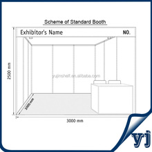 Guangzhou supplier factory direct sales standard size 3x3x2.5 aluminum extrusion trade show booth/booth display