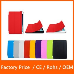 High Quality Magnetic Stand Flip PU Leather Smart Cover Ultra Slim Tablets Case for iPad Mini 123