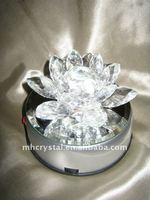 Crystal Lotus with Rotating Led light Stand MH-H0060