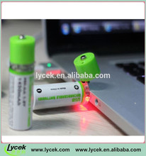 1.2v rechargeable batteries Lycek 1.2v usb rechargeable aa 1450mah battery