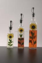 wholesale decal olive oil spray glass bottle , glass bottle for oil and vinegar