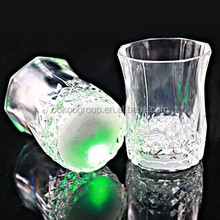 2015New year promotion creative flash luminescence induction octagonal glow cup flash cup for celebration party bars free ship