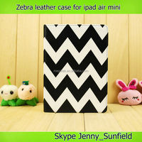 Tablet case cover zebra folio leather case for ipad mini air, for ipad mini case ,for ipad case leather