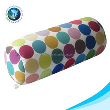 Hot sale cheap push and polyester bead oblong pillow cylindrical shape memory foam neck pillow