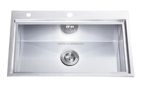 Luxury top mount kitchen sink from professional manufacturer
