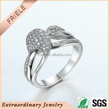Friele Kissing Fish Platinum Love Rings Wedding Ring 925 sterling silver Jewelry