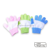 Nylon bath glove