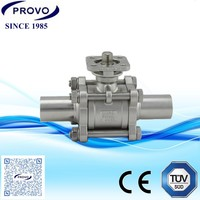 Chemical resistant pipe ball valve dn80