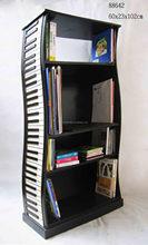 Cabinet Style Milky White DIY Creative Book Shelf wooden shelves,new design double face kids bookshelf/bookcase china factory