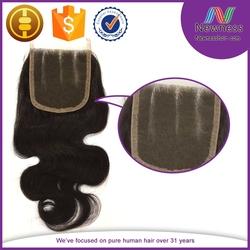 Direct Hair Factory Cheap Lace Closure 4*4 Different texture human hair closure bangs