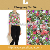 Cheap china manufacture high quality printed simple floral poplin cotton fabric