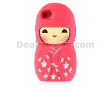 3D Cute Japanese Girl Doll Flexible Silicone Case for iPhone 6, for iPhone6 case, for Apple Accessory