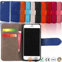 4.7 inch wallet PU leather case cell phone credit card holder case for iphone 6