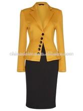 Damas al por mayor desgaste de la oficina de la moda trajes formales para el tamaño más medio- envejecido traje de las mujeres