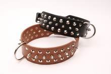 Wholesale dog collar metal spikes pitbull spiked leather dog collar