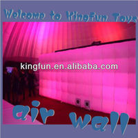 Lighting inflatable wall structure for exhitbition stall