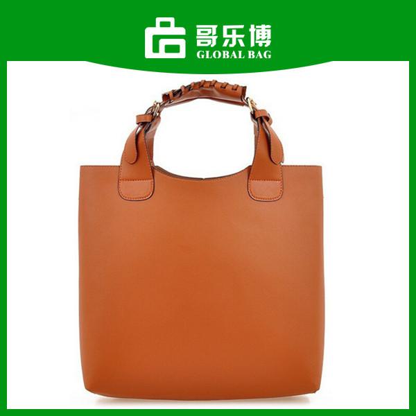 2015 Stock Promotion Cheap PU Leather Ladies Wholesale Handbags