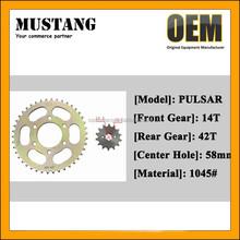 45Mn Steel Motorcycle Sprocket, BAJAJ PULSAR Motorcycle Engine Chain and Sprocket, Motorcycle Spare Parts