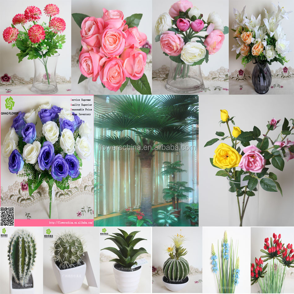 Large Size Big Heads Silk Lily Artificial Flowers Modern Flowers