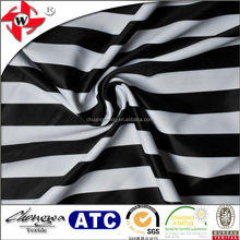 lycra nylon spandex black white stripe fabric for fashion dress