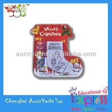 2014 trend christmas gift,christmas stockings painting DIY ZH0905669