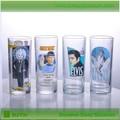 2015 fuente de la fábrica de lujo beber vasos de vidrio de agua potable de vidrio para la promoción