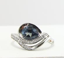 2015 Mystery classic micro setting 925 silver Alexandrite Corundum Hawaii Wave ring.