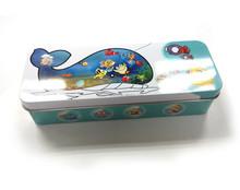 Cartoon kids tin pencil case