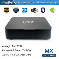 Hot sell MX android box RAM 1G ROM 8G with HD AV SD USB Ethernet output Built in wifi