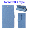 Hot selling Linen Texture leather wallet case for Moto X Style case